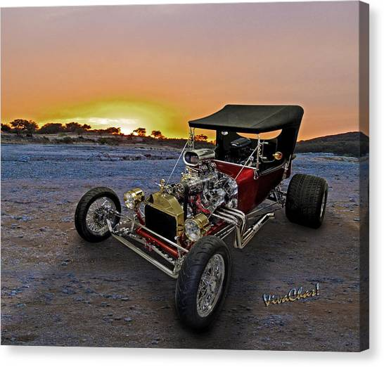 J B T Bucket Sunset Canvas Print