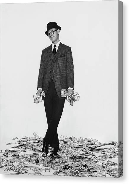 J. Kittlewood Thaxter IIi Standing On A Pile Canvas Print by Chadwick Hall