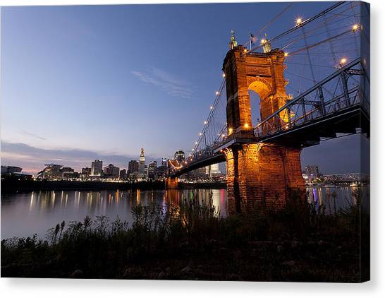 Ja Roebling Bridge Canvas Print