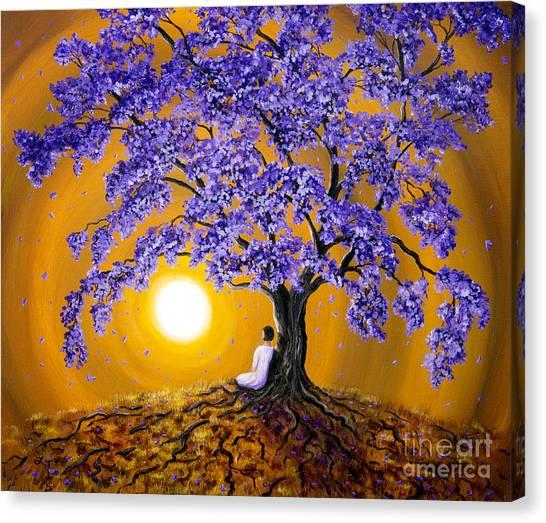Jacaranda Sunset Meditation Canvas Print