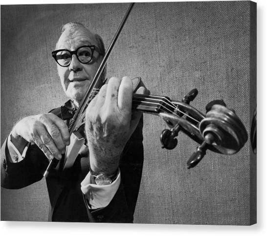 Violins Canvas Print - Jack Benny Farewell by Underwood Archives