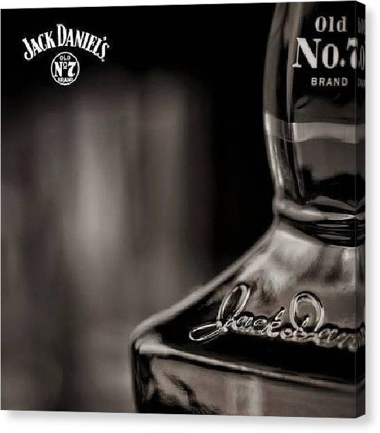 Back Canvas Print - #jack #daniel #for #life #love #it #old by Ole Back