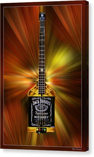 Jack Daniels Whiskey Guitar Canvas Print