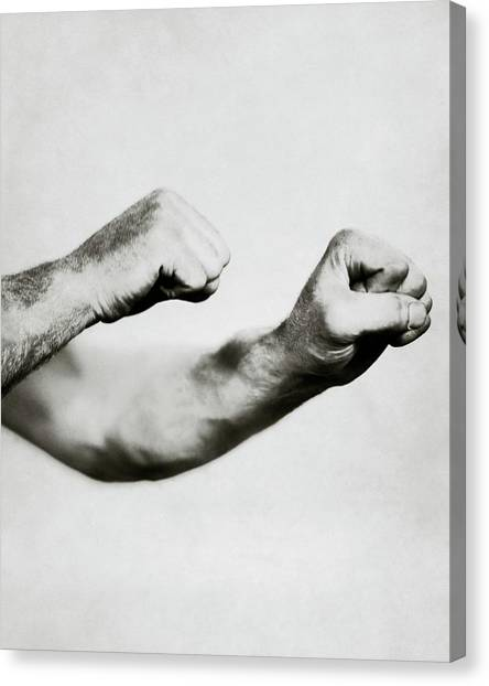Boxers Canvas Print - Jack Dempsey's Hands by Ira L. Hill