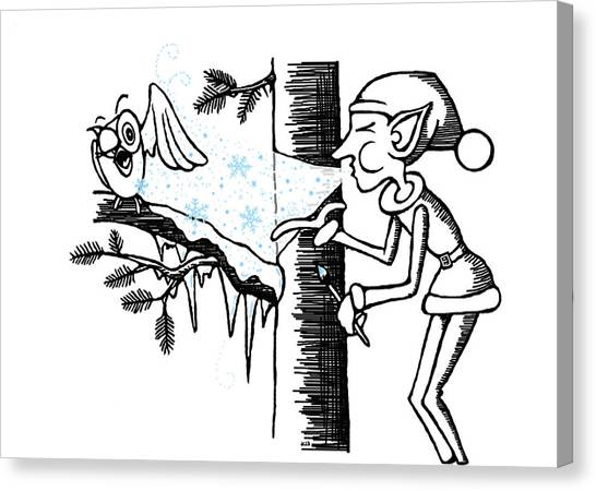 Jack Frost Holiday Card Canvas Print