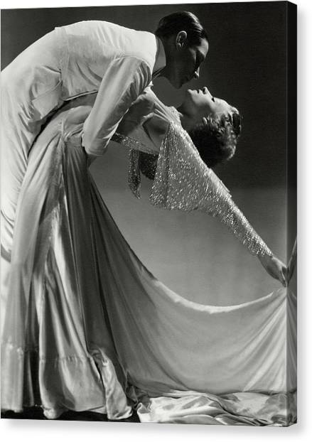 Jack Holland And June Hart Dancing Canvas Print
