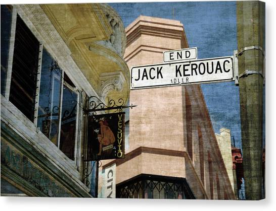 Jack Kerouac Alley And Vesuvio Pub Canvas Print