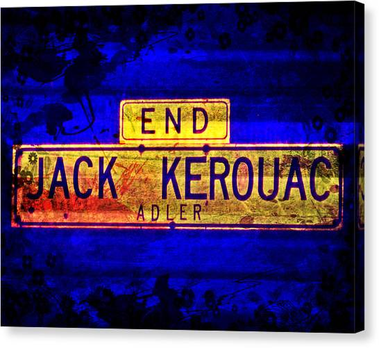 Jack Kerouac Alley Canvas Print