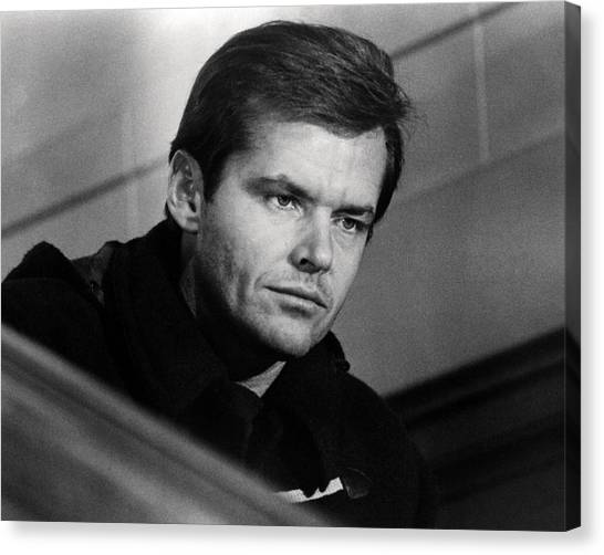 Jack Nicholson Canvas Print - Jack Nicholson In Five Easy Pieces  by Silver Screen