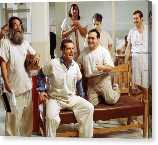 Jack Nicholson Canvas Print - Jack Nicholson In One Flew Over The Cuckoo's Nest  by Silver Screen