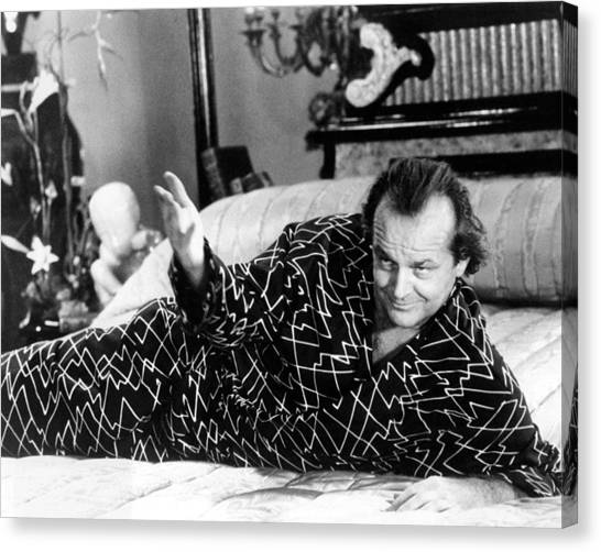 Jack Nicholson Canvas Print - Jack Nicholson In The Witches Of Eastwick  by Silver Screen