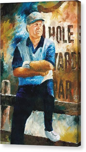 Jack Nicklaus Canvas Print - Jack Nicklaus by Christiaan Bekker