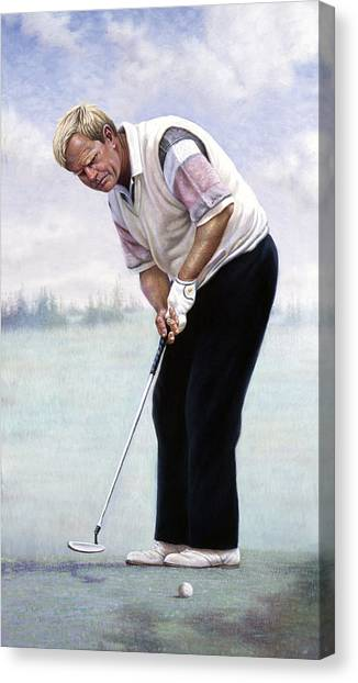 Arnold Palmer Canvas Print - Jack Nicklaus by Gregory Perillo