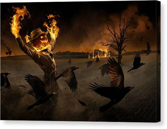Scarecrows Canvas Print - Jack-o\'-scarecrow by Christophe Kiciak