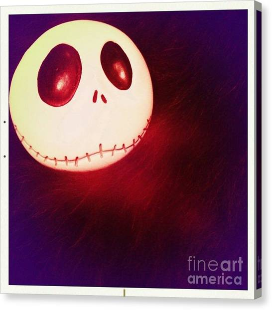Jack Skellington Glowing Canvas Print