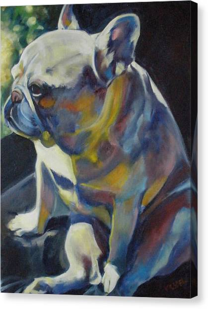 Jack The French Bulldog Canvas Print