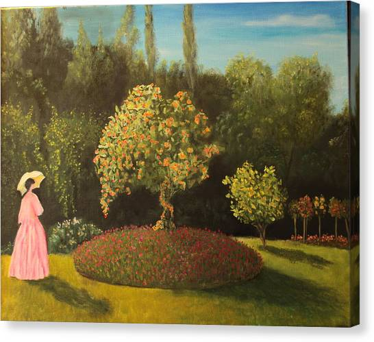 Jackie's Garden Canvas Print