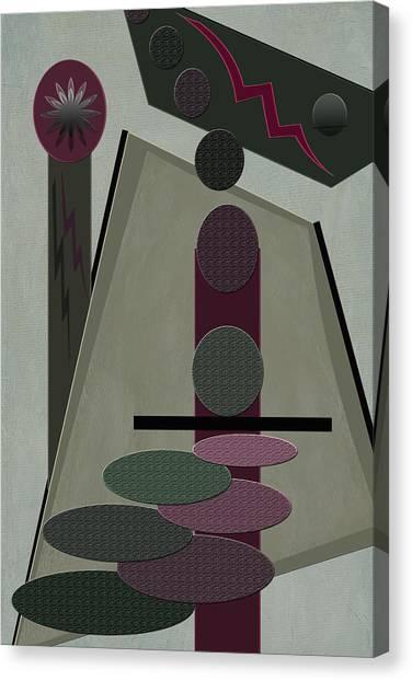Frank Stella Canvas Print - Jackpot by Linda Dunn