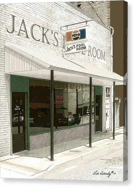 Jack's Pool Room Canvas Print