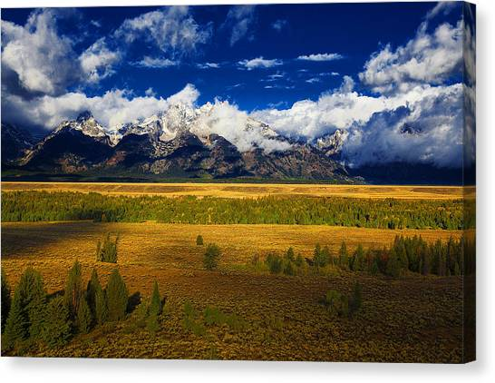 Jackson And Salt Lake Usa Canvas Print