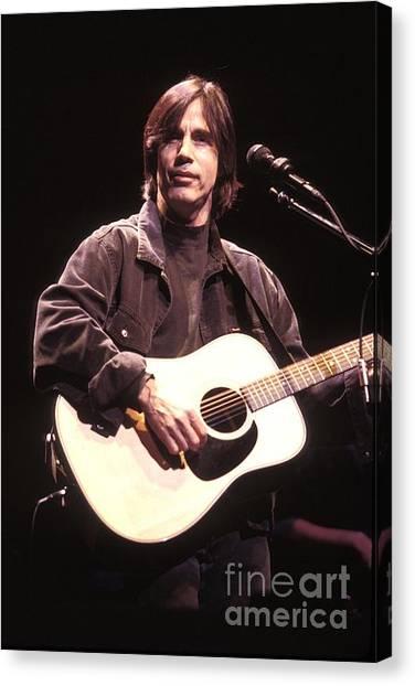 Folk Singer Canvas Print - Jackson Browne by Concert Photos