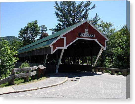 Canvas Print - Jackson Covered Bridge Nh by Christiane Schulze Art And Photography