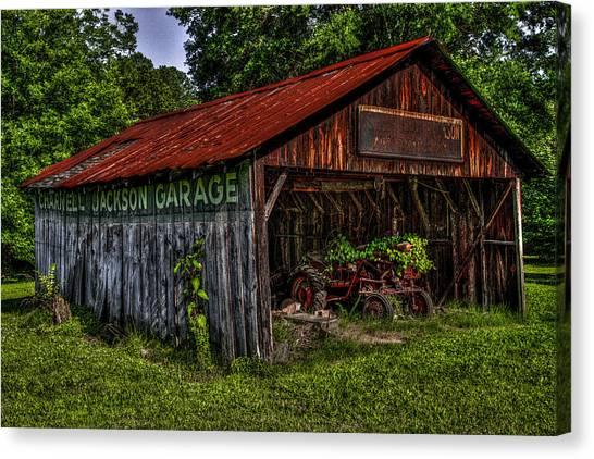 Jackson Garage Canvas Print by Russ Burch