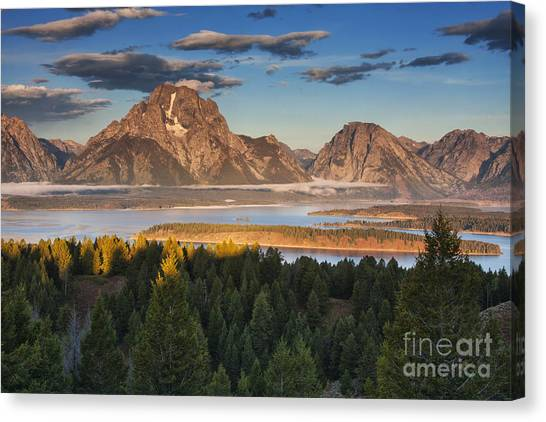 Beauty Mark Canvas Print - Jackson Lake Morning by Mark Kiver