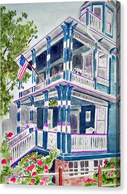 Jackson Street Inn Of Cape May Canvas Print