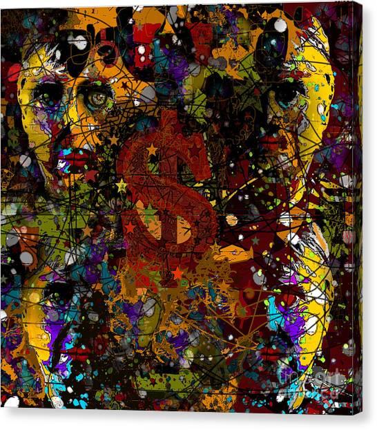 Jackson Warhol Me Canvas Print