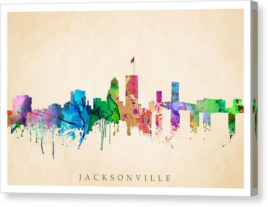 Jacksonville Cityscape Canvas Print