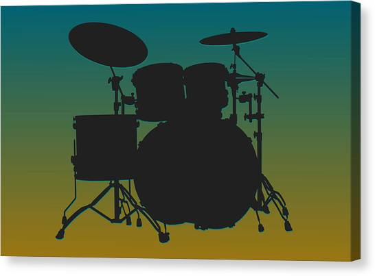 Jacksonville Jaguars Canvas Print - Jacksonville Jaguars Drum Set by Joe Hamilton