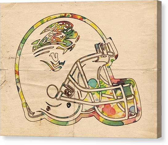 Jacksonville Jaguars Canvas Print - Jacksonville Jaguars Helmet Art by Florian Rodarte