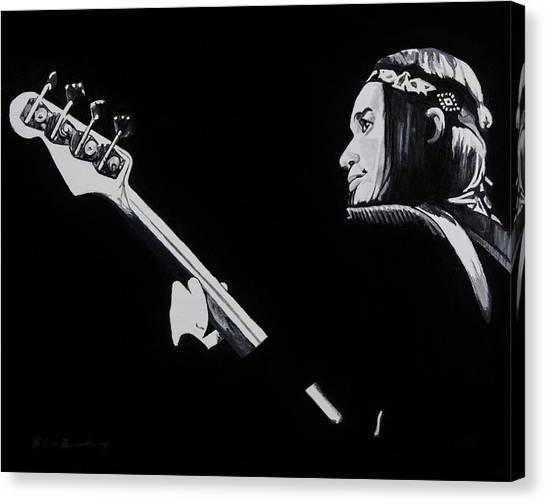 Joni Mitchell Canvas Print - Jaco by Brian Broadway