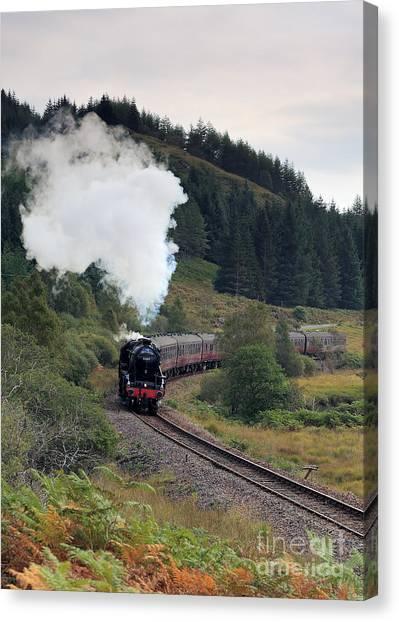 Jacobite Steam Train Canvas Print by Maria Gaellman