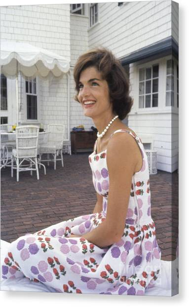 First Ladies Canvas Print - Jacqueline Kennedy At Hyannis Port 1959 by The Harrington Collection