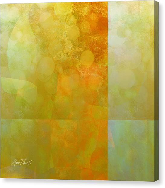Jade And Carnelian Abstract Art  Canvas Print by Ann Powell