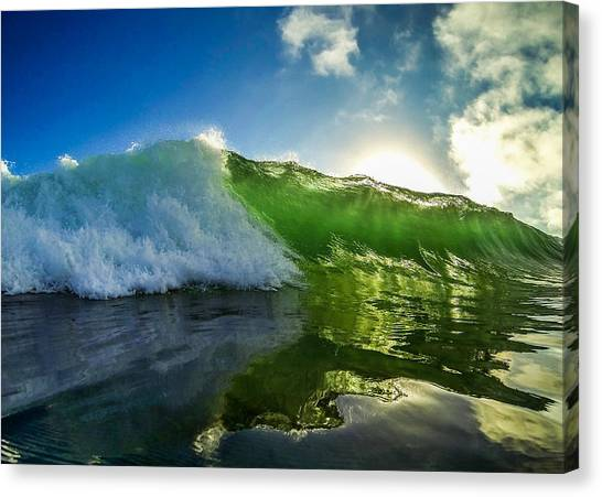 Bodyboard Canvas Print - Jade Beauty by David Alexander