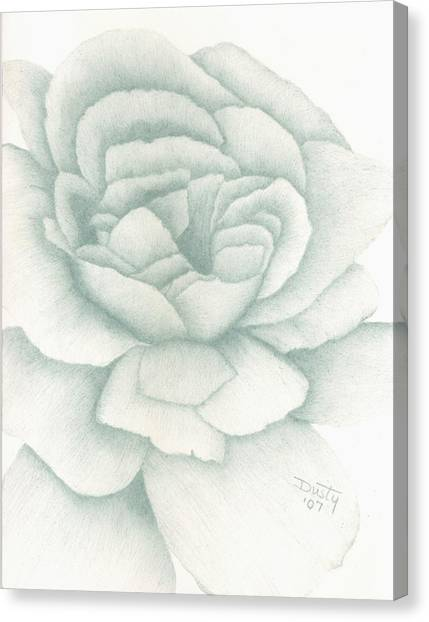 Jade Rose Canvas Print by Dusty Reed