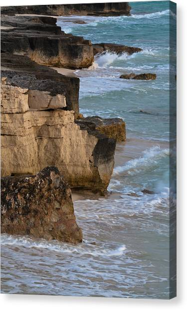 Jagged Shore Canvas Print