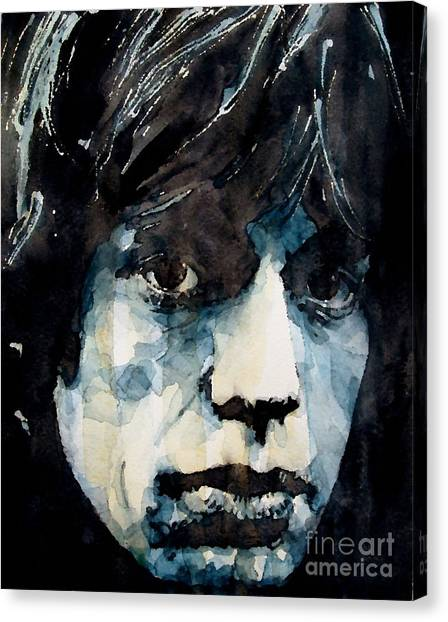 Rolling Stones Canvas Print - Jagger No3 by Paul Lovering