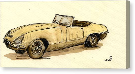 Spiders Canvas Print - Jaguar E Type Cabrio by Juan  Bosco