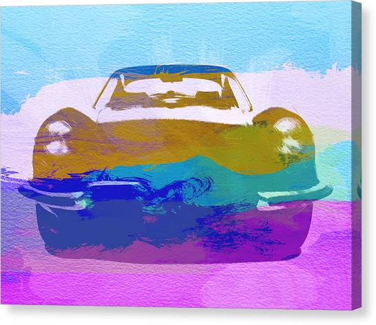 Type Canvas Print - Jaguar E Type Front by Naxart Studio