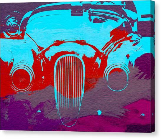 Classic Cars Canvas Print - Jaguar Front End by Naxart Studio
