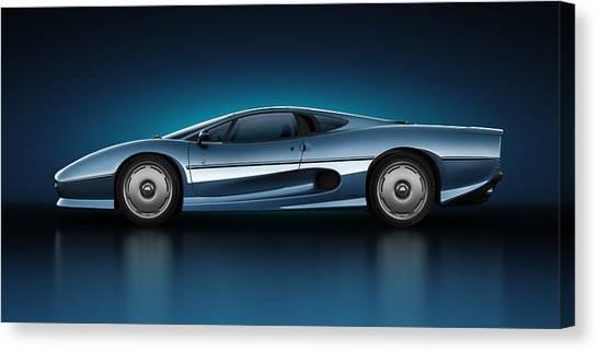 Jaguar Xj220 - Azure Canvas Print