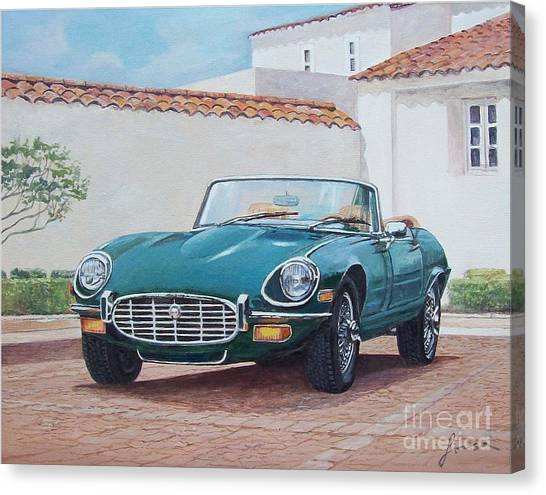 Jaguar Xke 1961-1975 Canvas Print