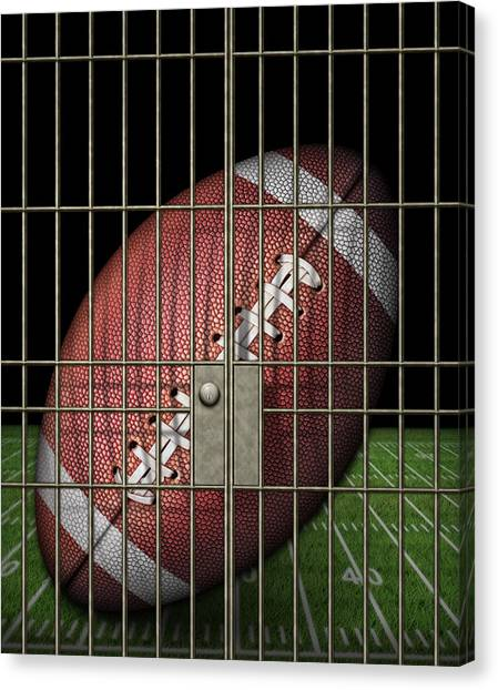 Jailed Football Canvas Print