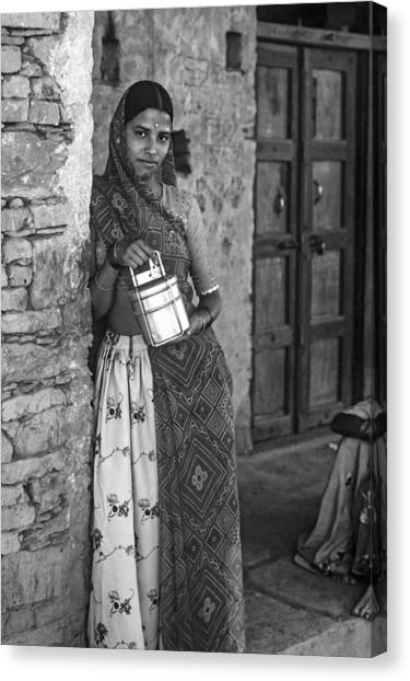 Thar Desert Canvas Print - Jaisalmer Beauty Monochrome by Steve Harrington