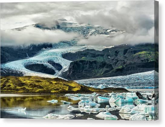 Glaciers Canvas Print - Ja??kulsa??rla??n by Drago Cerovsek