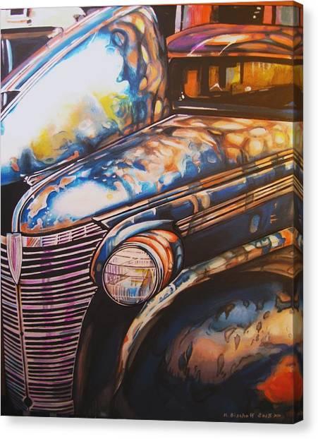 Jalopy Canvas Print by Kathleen Bischoff